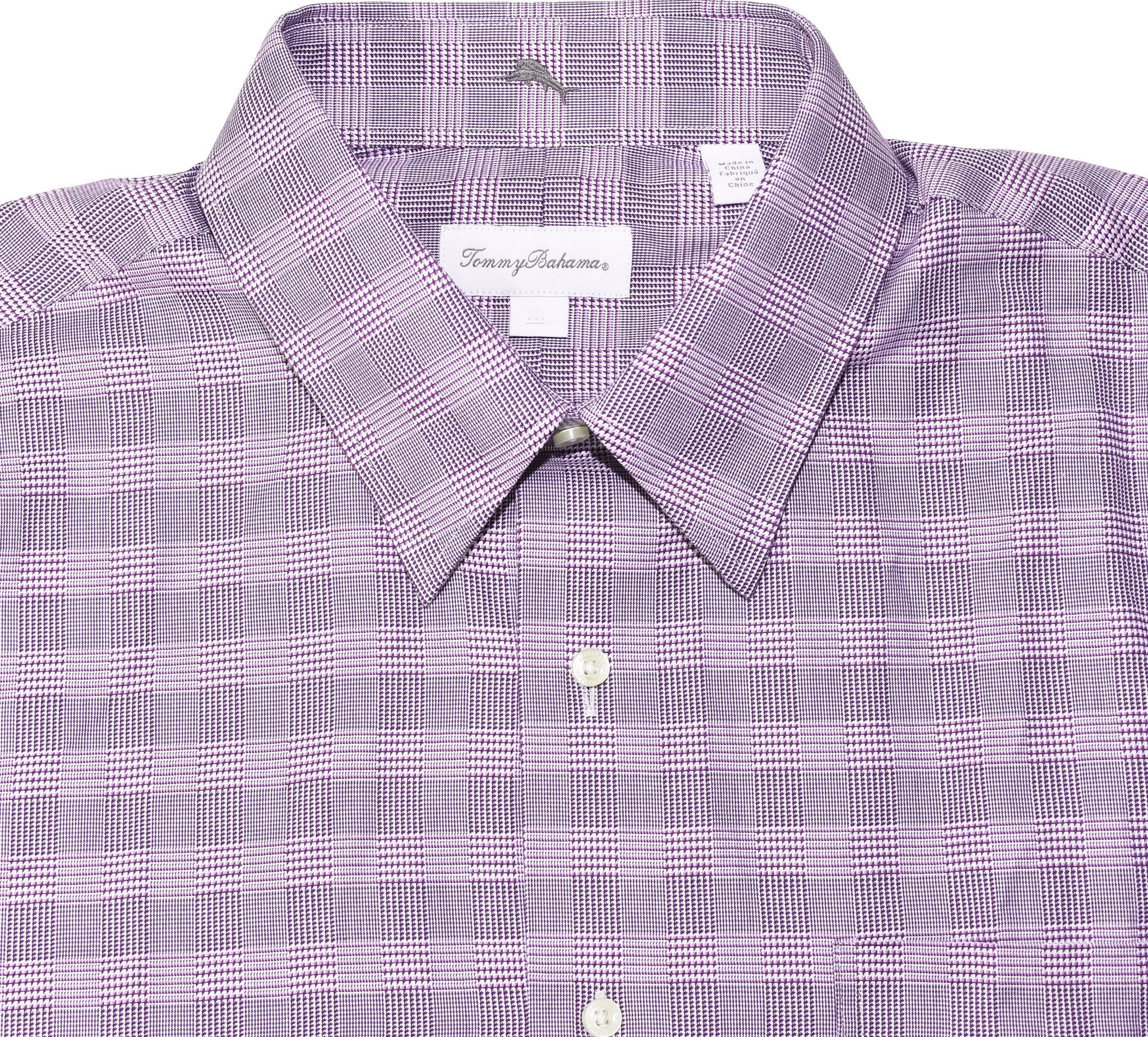 Tommy Bahama Mens Long Sleeve Dress Shirt | Purple Plaid