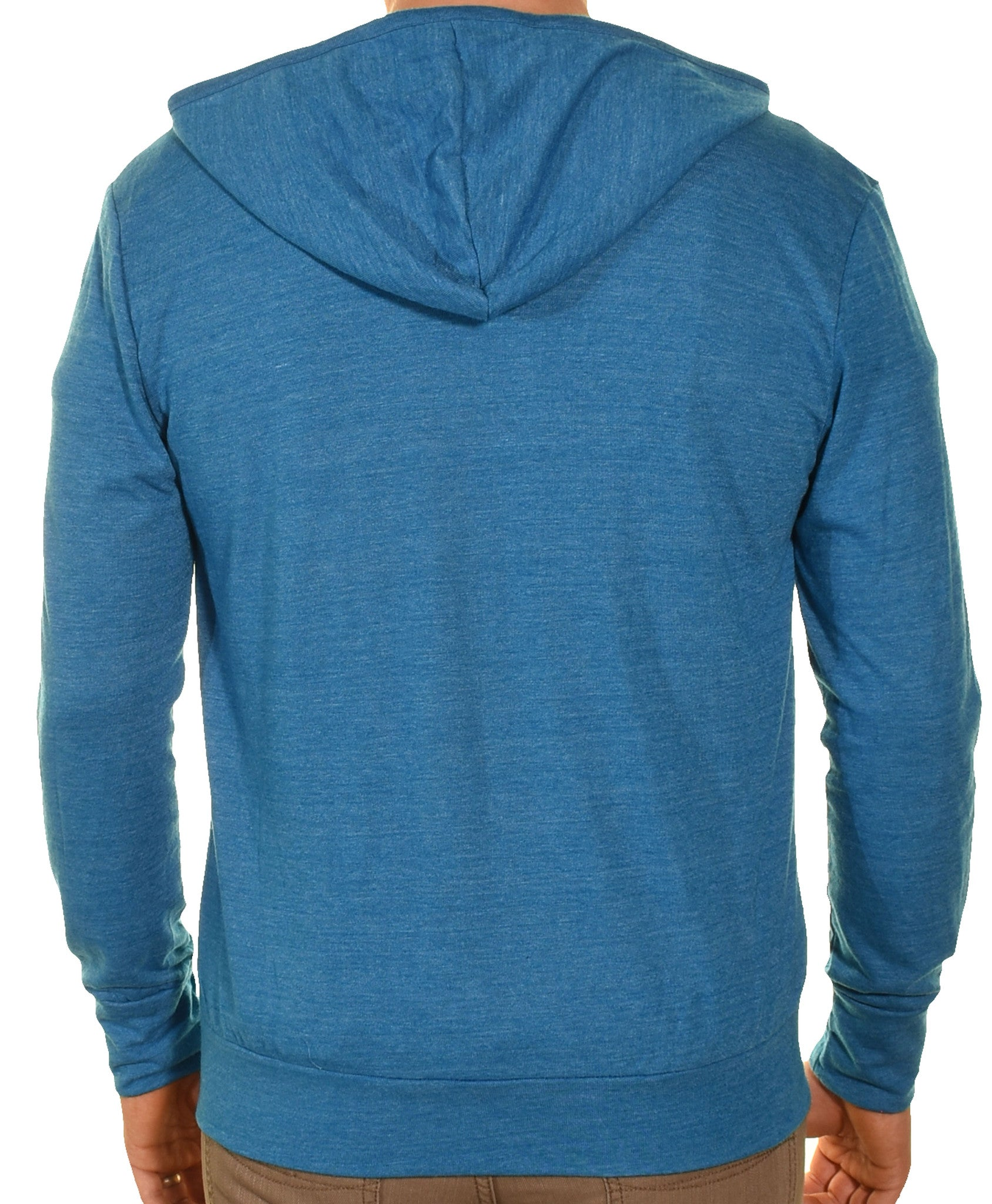 Easy Wear Mens Full Zip Ultralight Jersey Hooded Sweater | Blue,Jackets,Easy Wear - Discount Divas