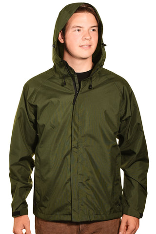 Guides Choice Mens Breathable Waterproof Seattle Storm Watch Parka - Army Green,Outerwear,Guides Choice - Discount Divas
