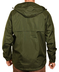 Guides Choice Mens Breathable Waterproof Seattle Storm Watch Parka - Army Green
