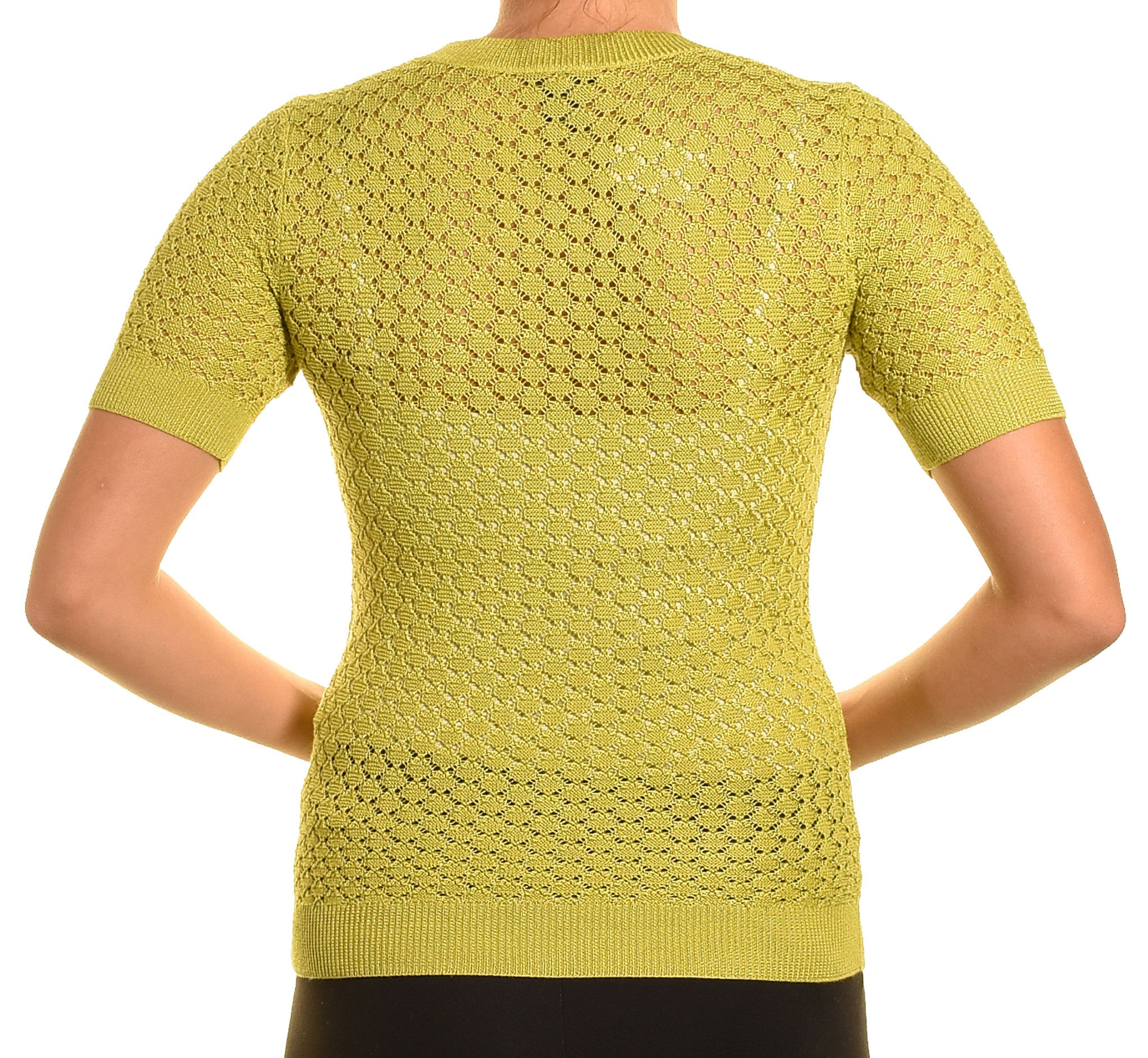 Ann Taylor Sheer Knit Layering Shirt (Lime Green),Shirts,Ann Taylor - Discount Divas