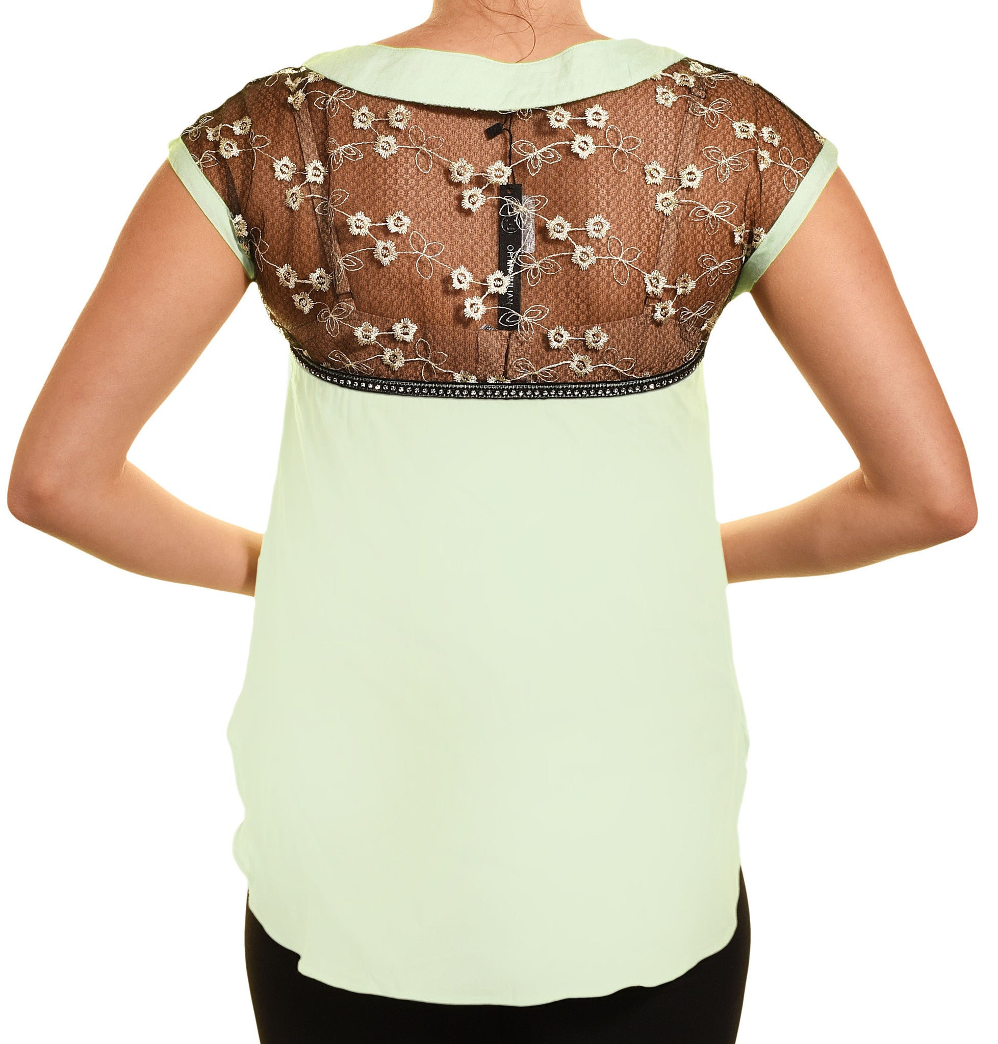 Embroidered Lace Rhinestone Tank Top