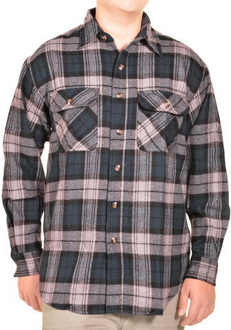 Sports Afield Mens Heavy Flannel Shirt (Highland Navy Plaid),Shirts,Sports Afield - Discount Divas
