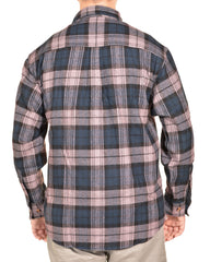 Sports Afield Mens Heavy Flannel Shirt (Highland Navy Plaid)
