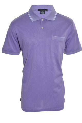 Hathaway Mens Relaxed Fit  Polo Shirt | Lavendar Purple