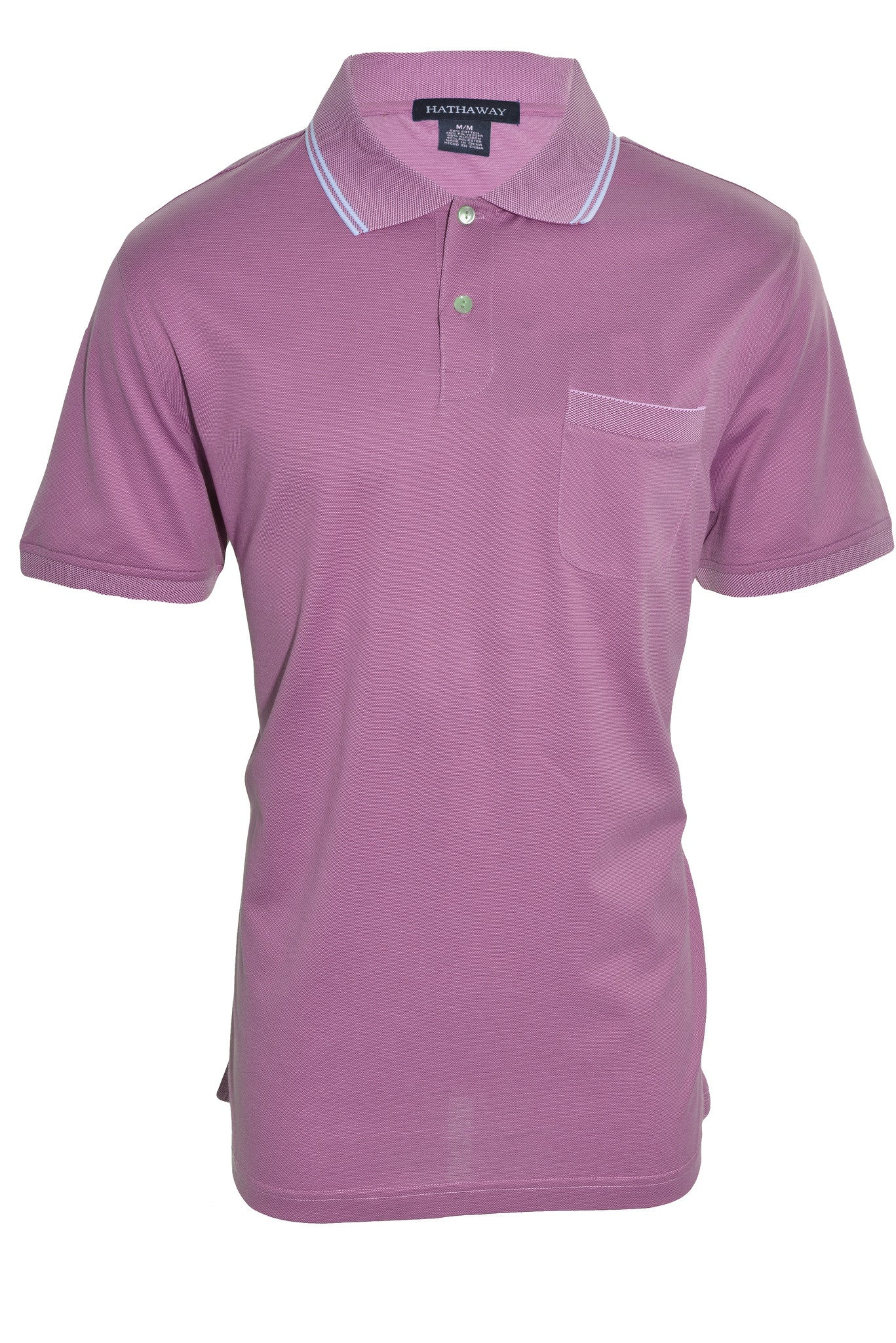 Hathaway Mens Relaxed Fit  Polo Shirt | Pink