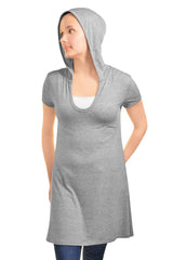Ellie & Kate Hooded T-Shirt Dress (Heather Gray),Dress,Ellie & Kate - Discount Divas