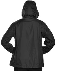 Guides Choice Womens Waterproof Taped Seams Raincoat | Black