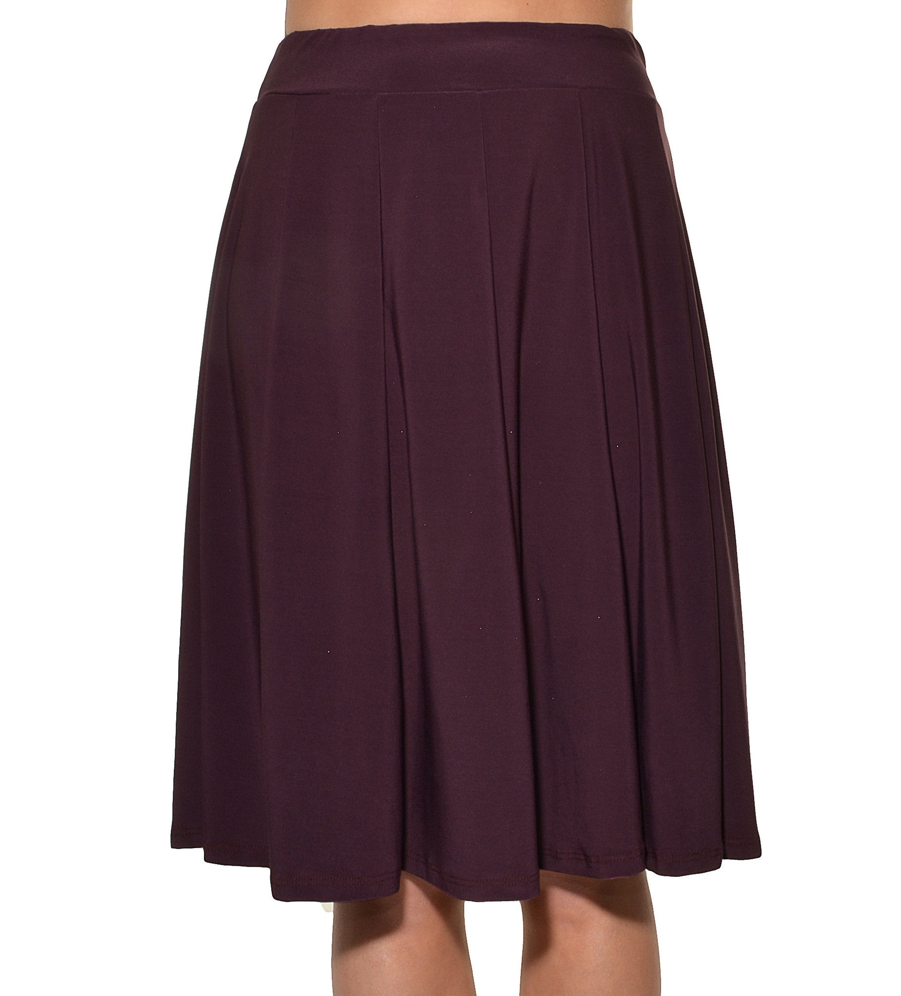 Avital Panel Aline Stretch Skirt (Purple Solid),Skirts,Avital - Discount Divas