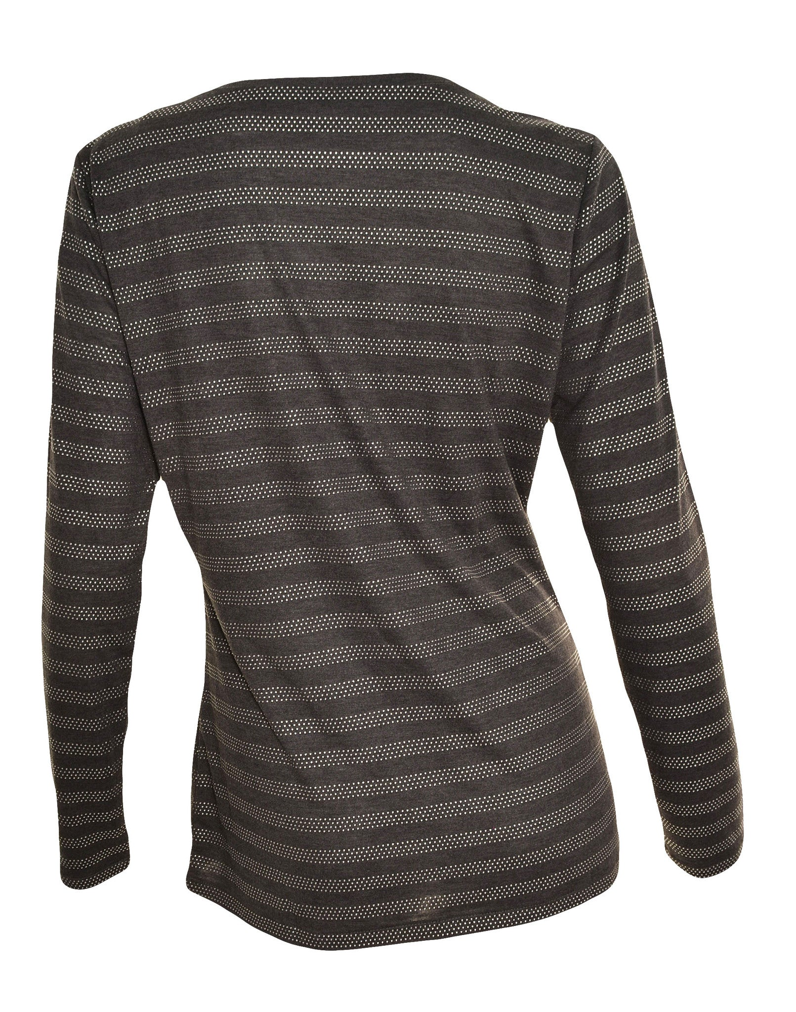 Ann Taylor Studded Long Sleeve T-Shirt (Dark Gray Silver),Shirts,Ann Taylor - Discount Divas