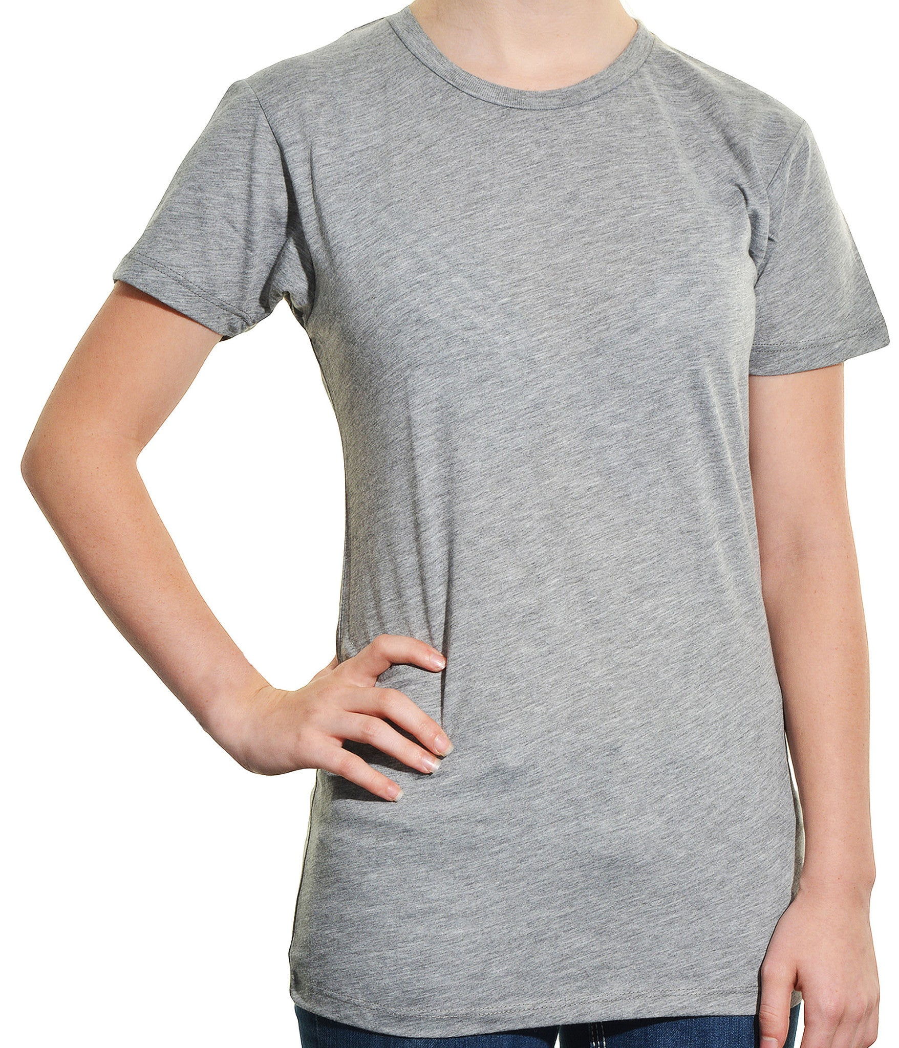 Alternative Apparel Crew Neck Short Sleeves Tee Shirt | Heather Gray