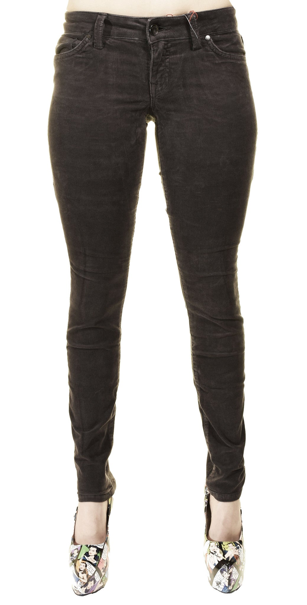 Level 99 Liza Skinny Corduroy Jeans (Taupe Gray)