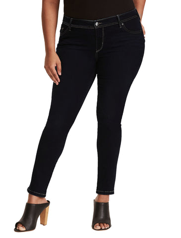 Roman Fashion Womens Skinny Ultra Dark Denim Jeans