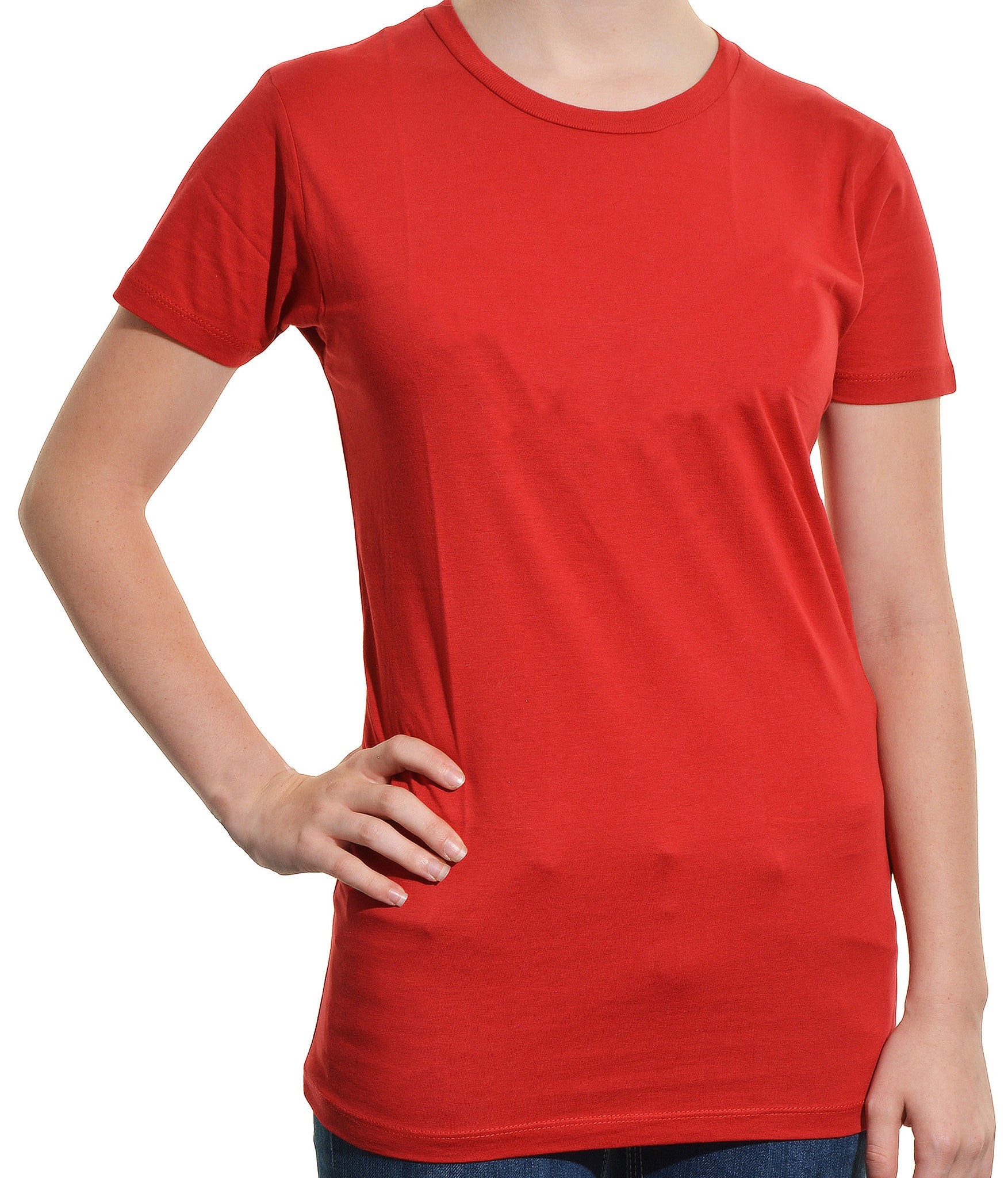 Alternative Apparel Crew Neck Short Sleeves Tee Shirt | Solid Red