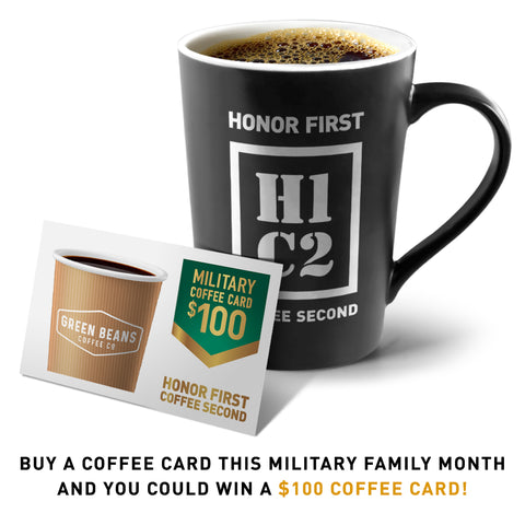 MILITARY COFFEE CARDS