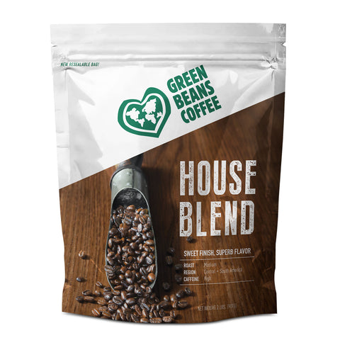 Green Beans Premium House Blend (5lb Bulk Bag)