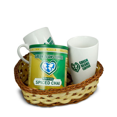 Green Beans Chai Lovers Gift Basket