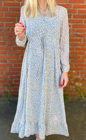 ONLY Lucia Ditzy Dress - Faded Denim-Mulieres.dk