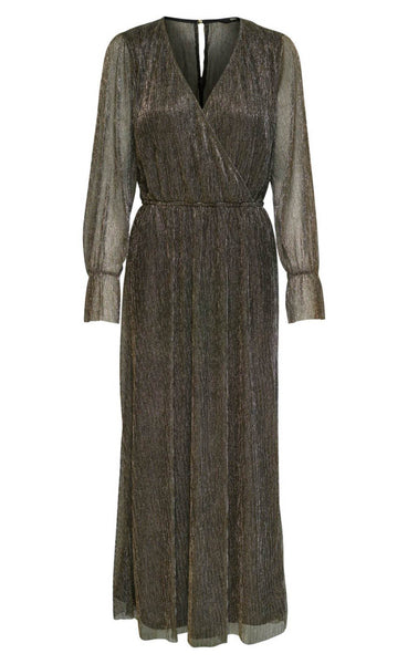 ONLY Valencia Maxi Dress - Black Glitter-Mulieres.dk