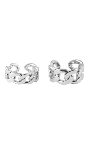 PIECES Ring Set - Corilla - Silver Colour packshot foran