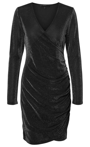 VERO MODA Denise Short Dress - Black Metallic-Mulieres.dk