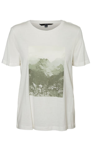 VERO MODA T-shirt - Felicia - Snow White Moutains packshot
