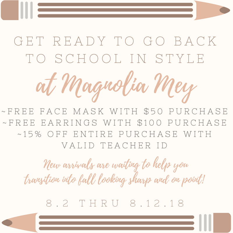 Back to School styles can be found at Magnolia Mey!