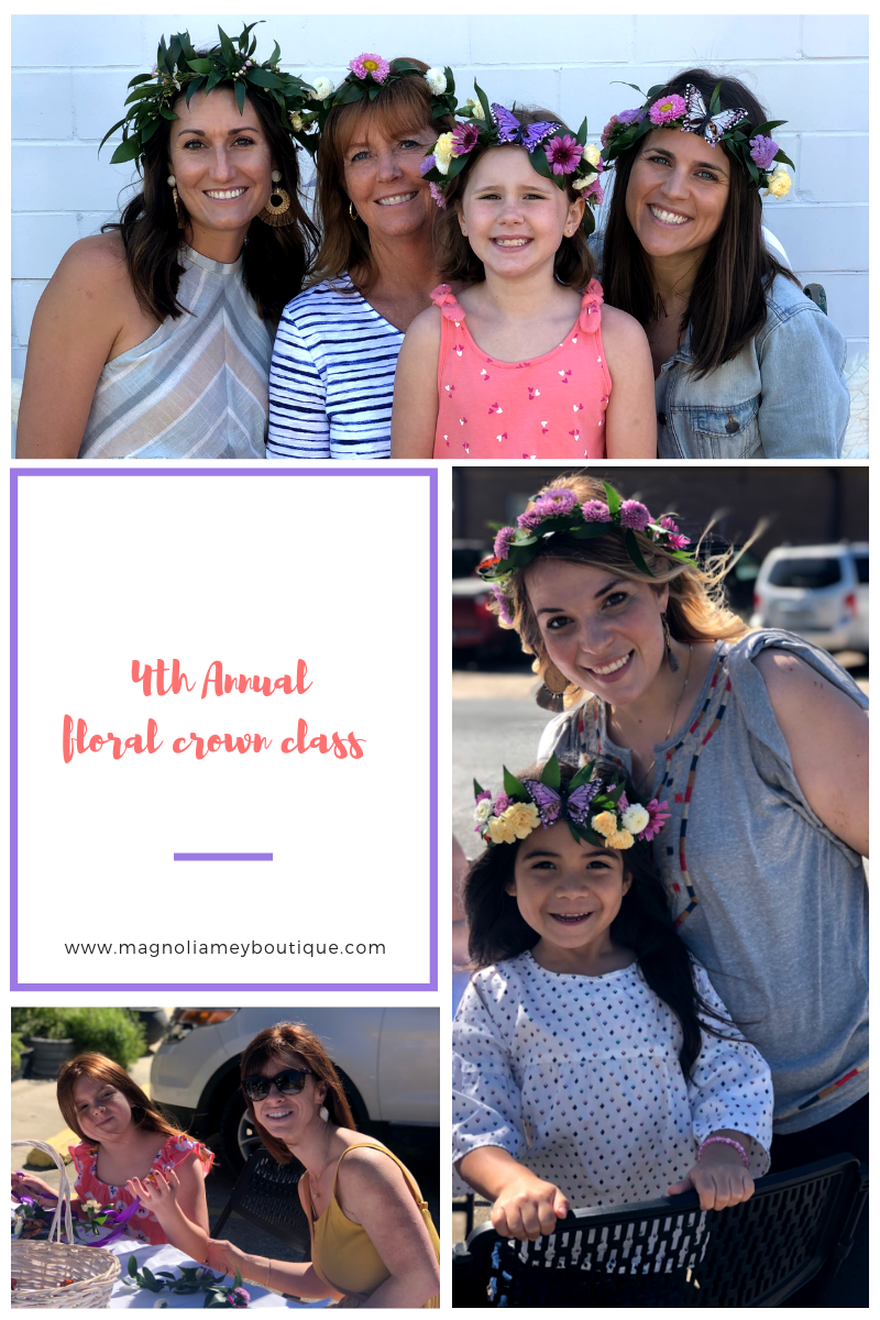 4th Annual Floral Crown Class