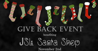 JSL Santa Shop Give Back Event is TODAY!  Shop now and help Christmas dreams come true!!