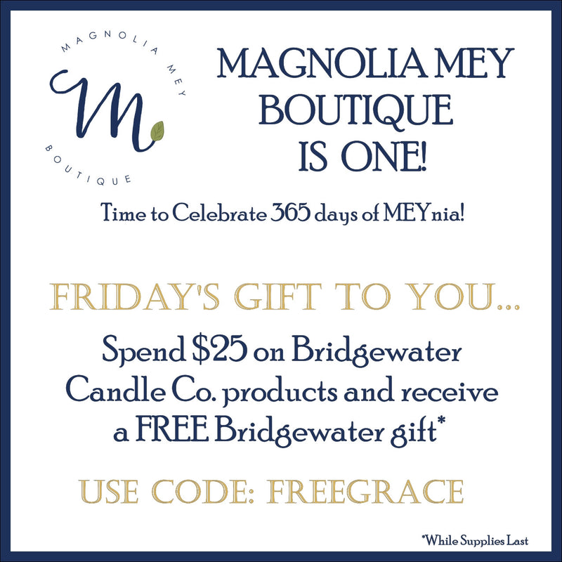 Magnolia Mey's birthday gift for you smells of Sweet Grace!  Look inside for how to get a FREE gift today!