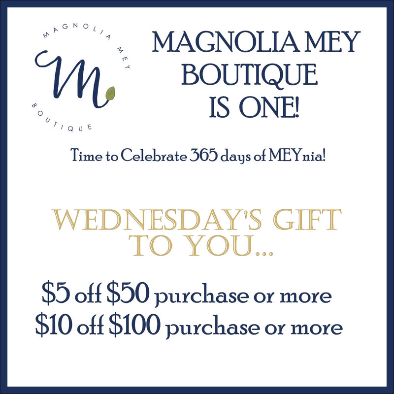 Magnolia Mey's ONE year party is still in progress!  Open to find out how to get FREE money today!