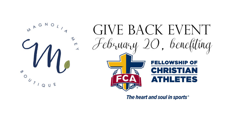 Magnolia Mey Boutique Gives Back to FCA next Monday, February 20th!