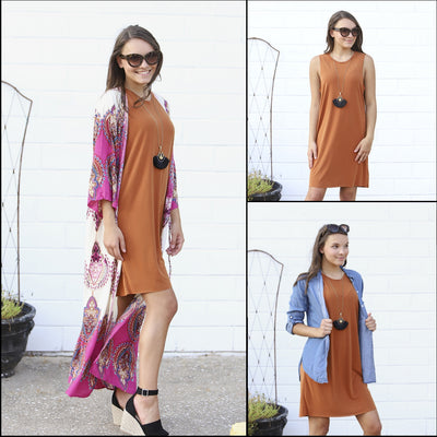 Simple dress with 3 fabulous looks!