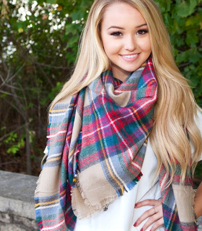 Fashionology 101 - How to tie a blanket scarf!