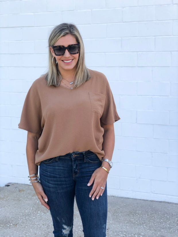 SHAYLA TOP IN CAMEL