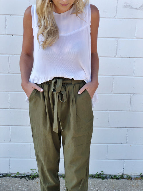 THE PERFECT PANT - OLIVE
