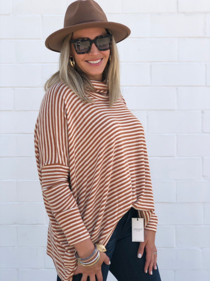 JOYFULLY YOURS STRIPED TOP