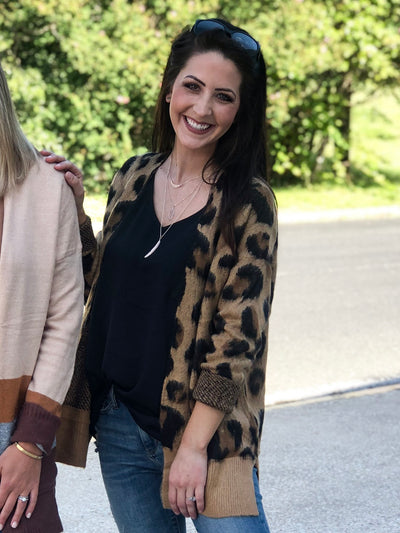 STAY COZY LEOPARD CARDIGAN