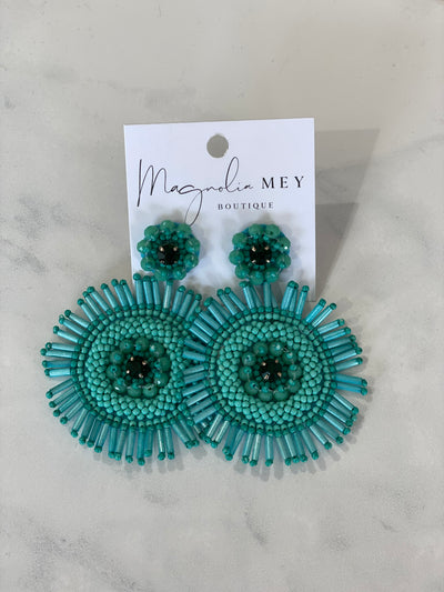 CIRCLE OF LIFE EARRING - TURQUOISE