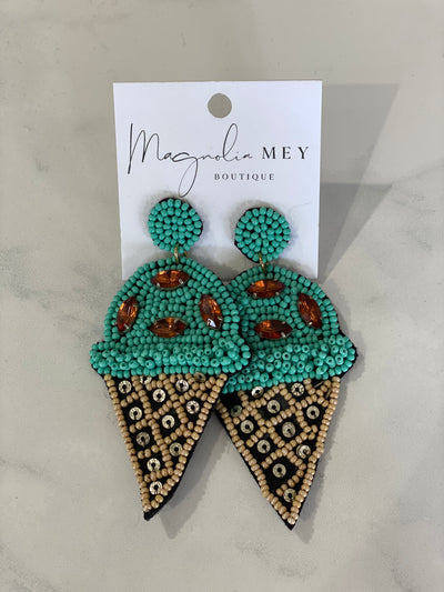 ICE CREAM EARRING - MINT COCO