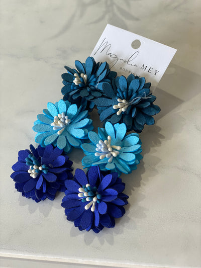 SPRING DAISIES EARRING - BLUE MIX
