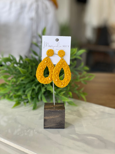 WEEKEND EARRING - MUSTARD