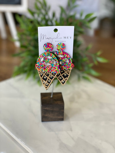 ICE CREAM EARRING - RAINBOW