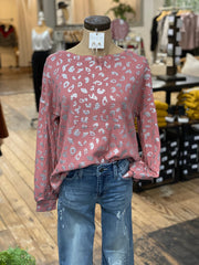 FINLEY WAFFLE TOP - PINK