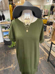SWEET EMBRACE DRESS - OLIVE