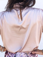 KENDAL MOCK NECK BLOUSE