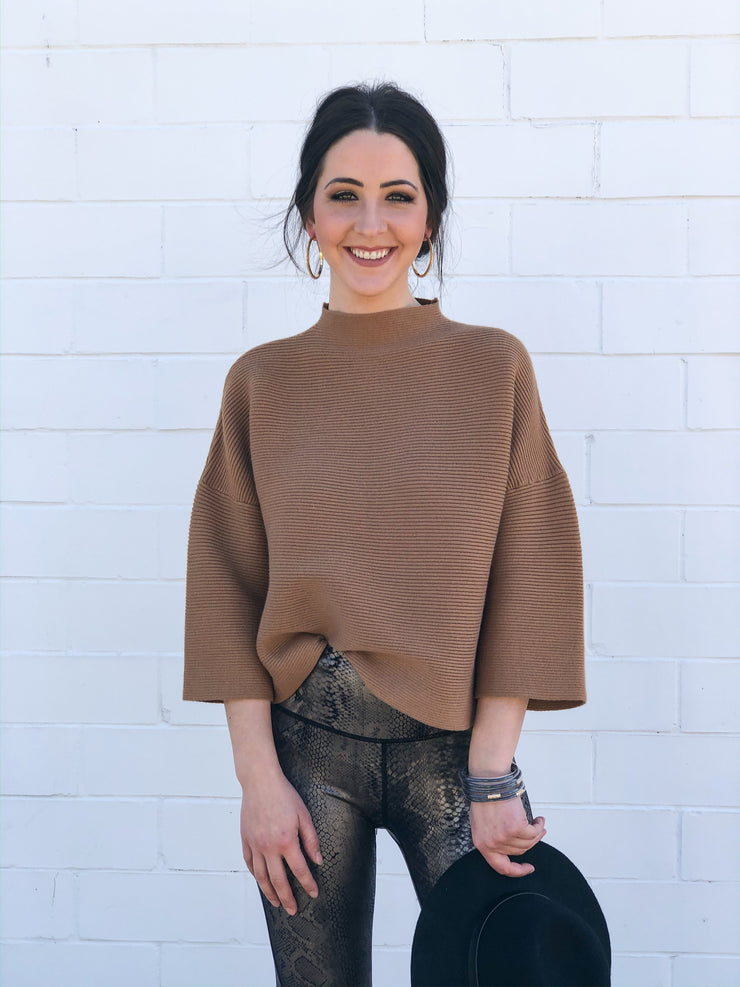 EMERY TOP - CAMEL