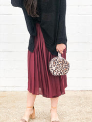 TWIST AND SHOUT MIDI SKIRT