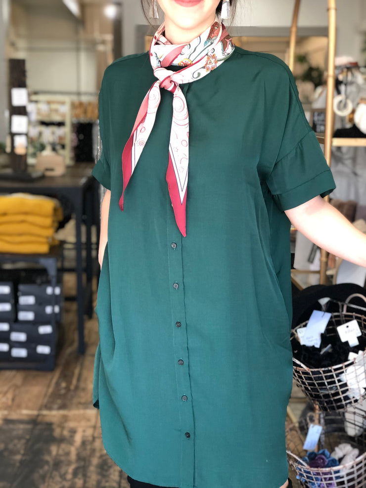 UPTOWN DRESS - HUNTER GREEN