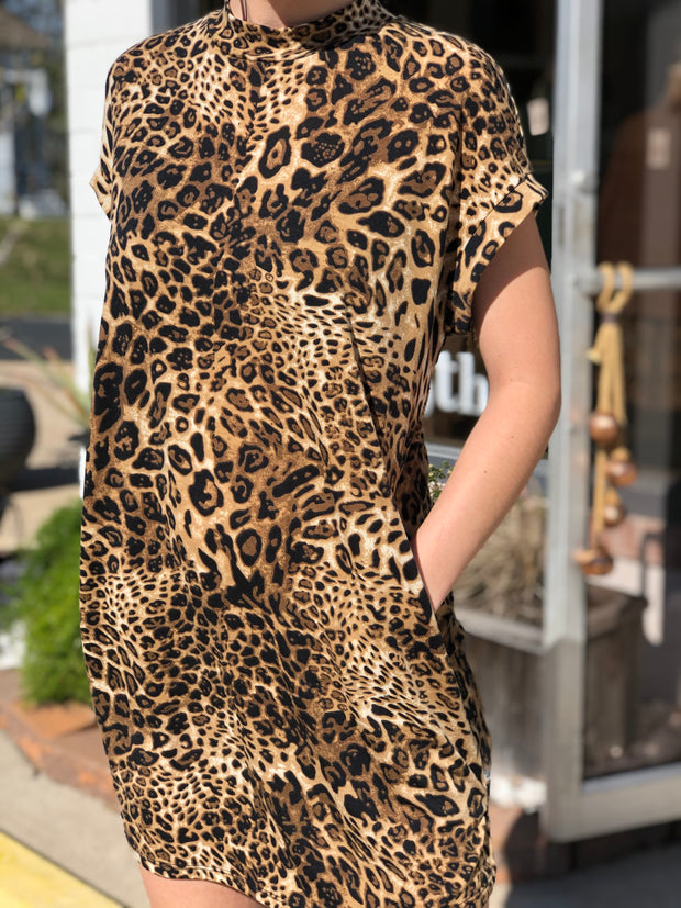 VIXEN LEOPARD DRESS